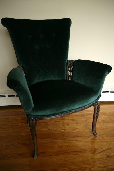 Antique Green Chair