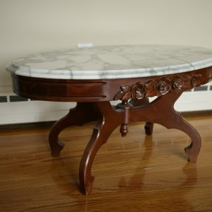 Antique Marble Top Table - Oval