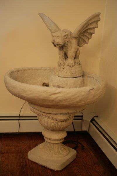 Gothic Stone Gargoyle FountainGothic Stone Gargoyle Fountain