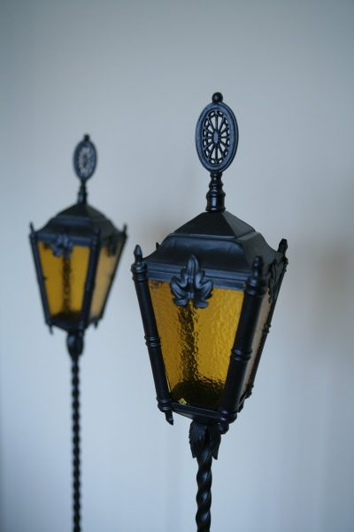 Gothic Funeral Lamps