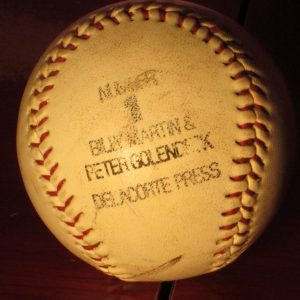 Billy Martin Number 1 Promo Baseball - Sweet N Evil