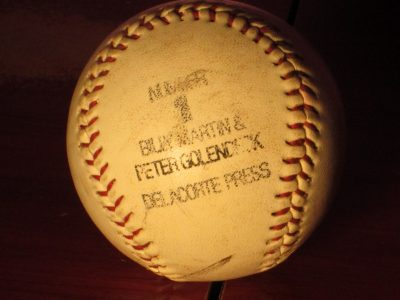 Billy Martin Number 1 Promo Baseball - Sweet N Evil